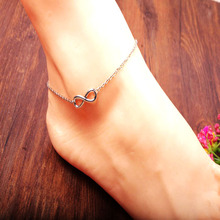 Fashion Gold Plating Number 8 Shaped Charm Leg Anklets For Women Ankle Bracelet Woman Anklet Female Foot Jewelry