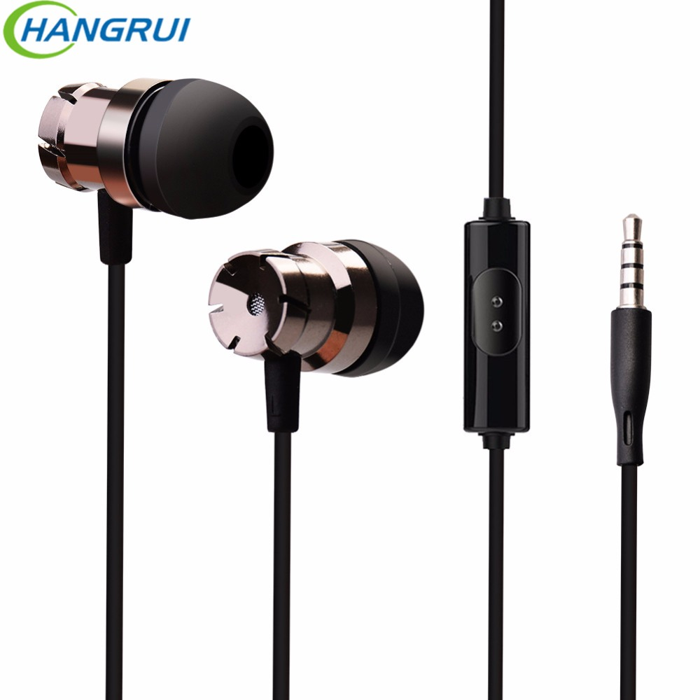 HANGRUI HiFi Stereo Phone Earphone In Ear Turbo earphones with Mic Bass Headset Subwoofer Earphones For iPhone 7 6 Xiaomi Redmi new diy ie801 earphone super bass headset 3 5mm in ear hifi stereo earbuds metal earphones for iphone samsung phone earphones