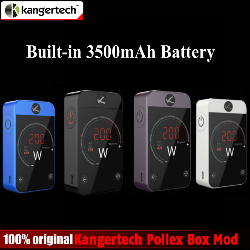Pre-sale Original Kangertech Pollex Box Mod 230W Kanger Vape Mod Built-in 3500mAh Battery 2.4 inch Touch Screen for RTA Tank original pioneer4you ipv d2 box mod