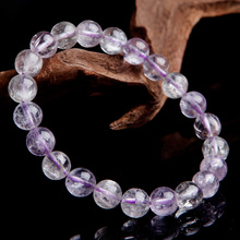 цена Top Natural Purple Kunzite Round Beads Bracelet Gemstone 8.5mm Cat Eye Crystal Women Men Stone Rarest Bracelet Jewelry AAAAA онлайн в 2017 году