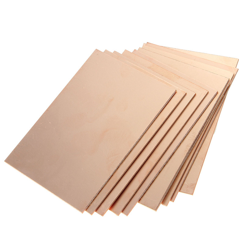 Hot Sale 10Pcs One-Side Copper Clad 70 x 100 x 1.5mm Single PCB Board Bakelite Single Side Lowest Price Wholesale universal single sided pcb copper clad board for diy 10 piece pack