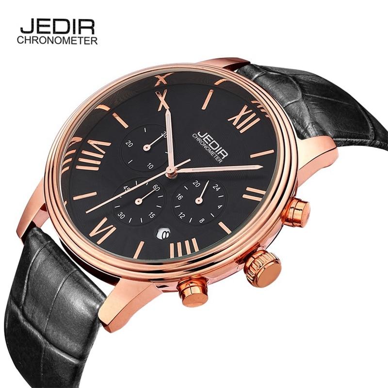 все цены на  JEDIR Clock Men Watch Business Mens Watches Top Brand Luxury Quartz-watch Wristwatches Waterproof Relogio Masculino 2016  в интернете