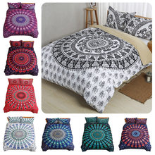Bohemian national style Digital print Bedding Set Quilt Cover Design Bed Set Bohemian a Mini Van Bedclothes 4pcs BE1242(China)