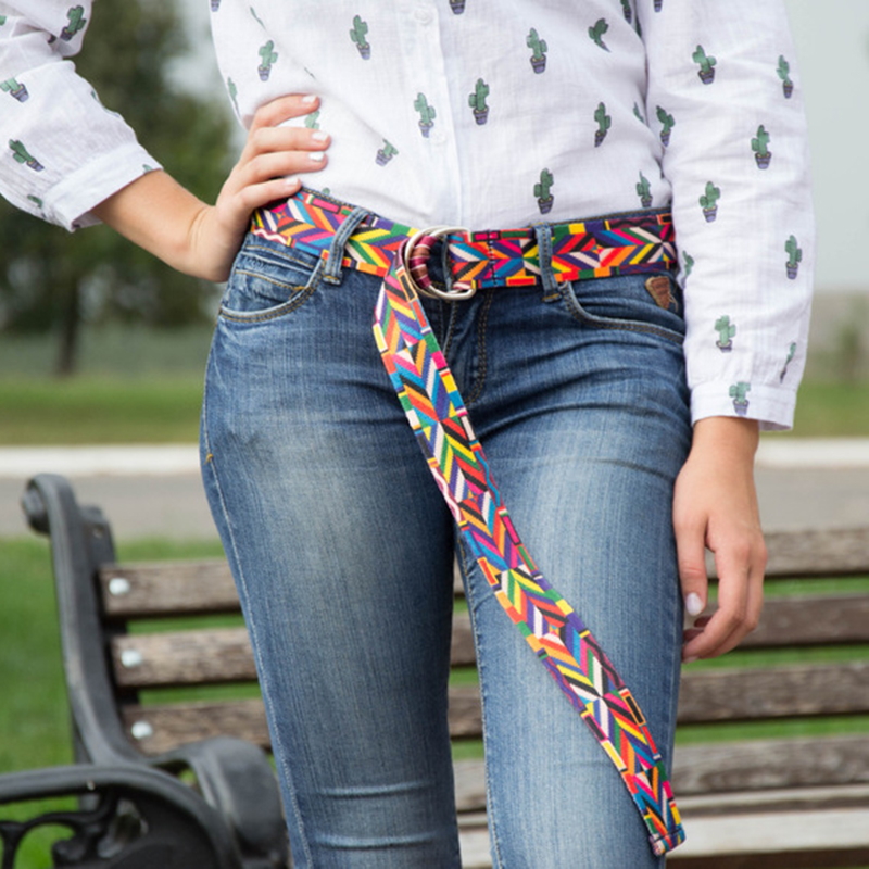 belt   for women/women   belt  /fashion/nylon   belts   national bright pattern flower lace puzzle unique colorful   belts   young jean pasek