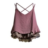 Womens Sleeveless Floral Lace Summer Tunic Top Long Women Camisole 2017 Summer Style Fashon Tank Tops