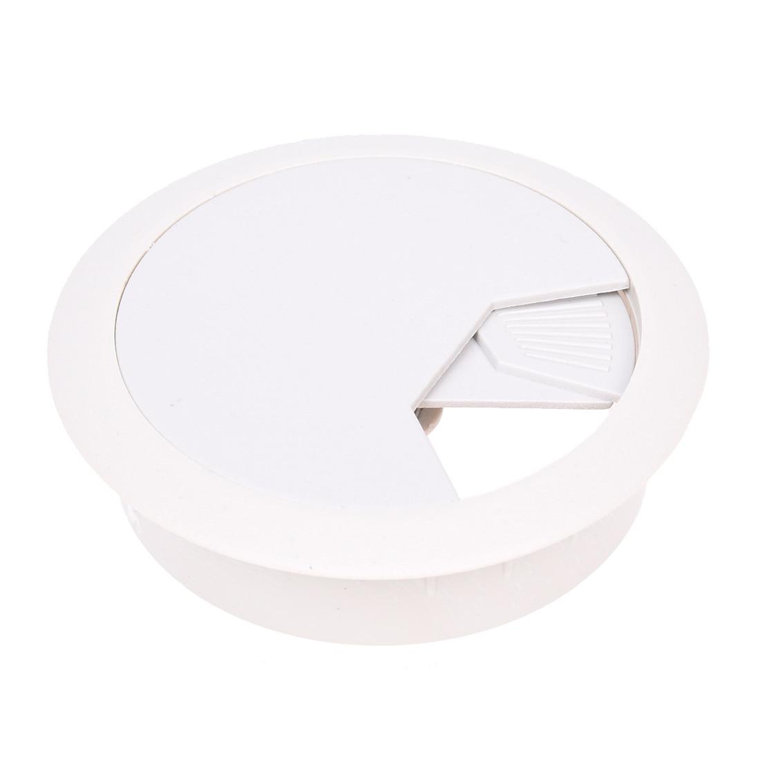 HOT GCZW-PC Desk Gray Plastic 50mm Diameter Grommet Cable Hole Cover 10 Pcs legare straight desk gray driftwood