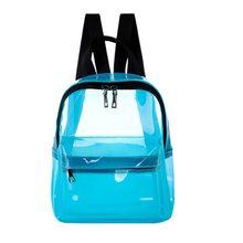 2b9f48e4bc52a Şeffaf Kadın Sırt Çantaları PVC Harajuku Sırt Çantası Su Geçirmez Güzel şeffaf  çanta için Okul Genç