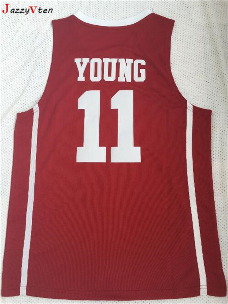 dc480f90202a 2018New Trae Young Oklahoma Sooners College Basketball Jersey  11 Trae  Young Buddy Hield  24 Red University Basketball Shirts-in Basketball Jerseys  from ...