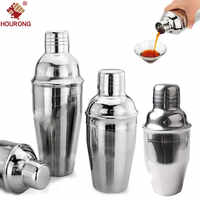 1Pc 250ml,350ml,550ml Stainless Steel Cocktail Shaker Cocktail Mixer Wine Martini Drinking Boston Shaker Party Bar Tool