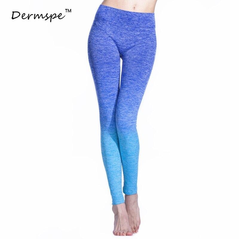 DERMSPE 2018 New Women Ballerin Yoga Pants Sport Gradient Color Exercise Jogging Fitness Pants Yoga Pants