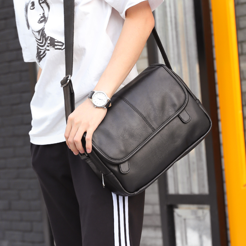 Tidog Korean male bag leisure boom bag shoulder bag free shipping 2014 boom bag leisure contracted one shoulder bag chain canvas bag