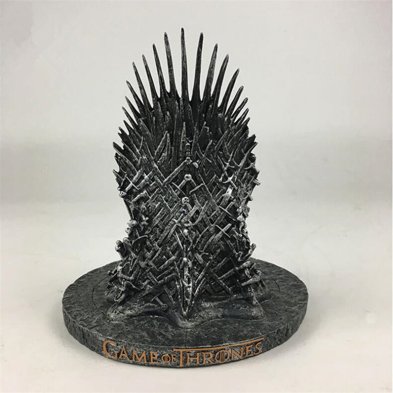 Movie Game of Thrones Iron Throne King Seat Model Cosplay Props Figure Resin Collectible