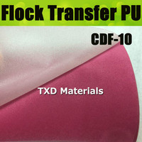 CDF 10 Pink High quality heat transfer flocking PU VINYL FOR CUTTER PLOTTER with size 50X100CM