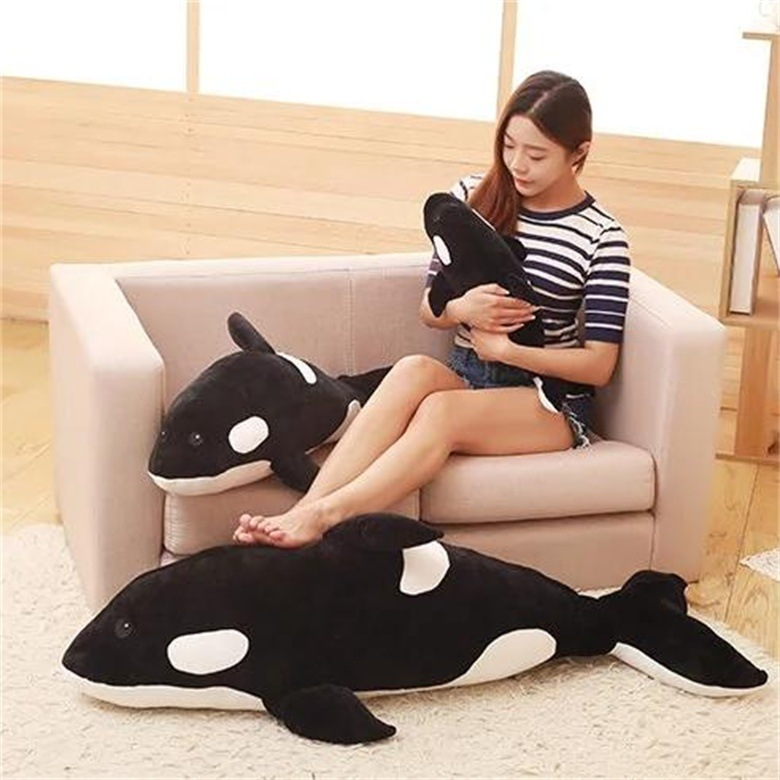 one piece big plush Killer whale toy huge lovely killer whale pillow doll gift about 130cm 2605 one piece huge plush simulation black killer whale toy new whale pillow doll gift about 120cm