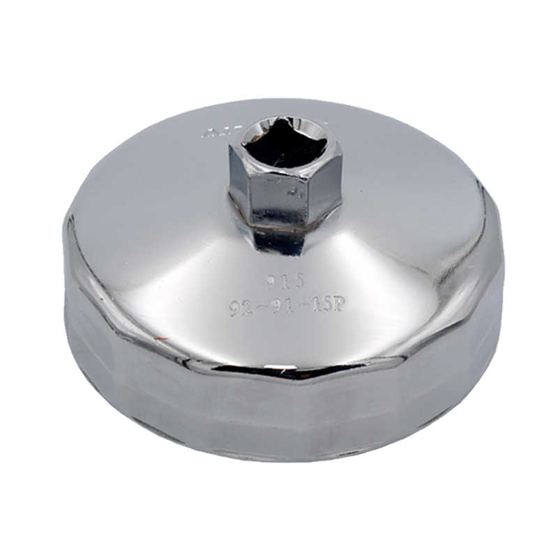 Car 901-915 Oil Filter Socket Wrench Cap Drive Remover Flutes Cup Housing Tool