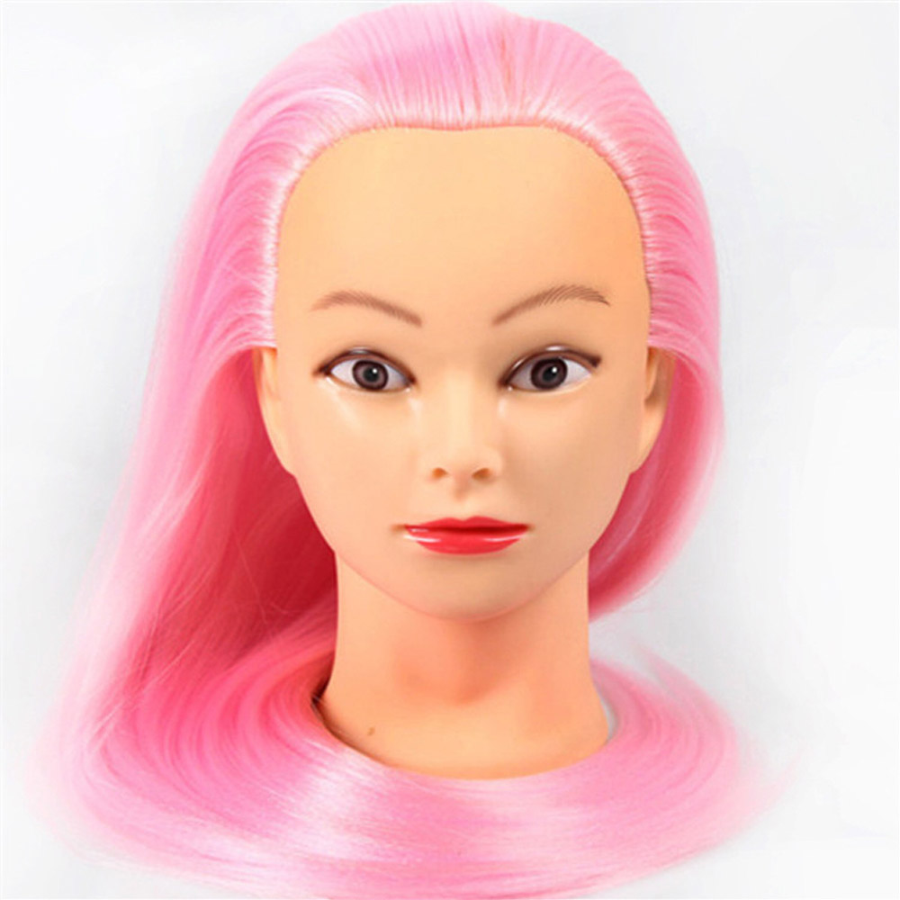Buy Hairdressers 60cm Yaki Hair Synthetic Mannequin Head Hairstyles Female Mannequin Hairdressing Styling Training Head Golden Model for only 11.4 USD