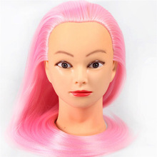 Hairdressers 60cm Yaki Hair Synthetic Mannequin Head Hairstyles Female Hairdressing Styling Training Golden Model