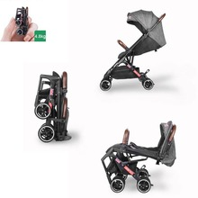 Babyyoya stroller Mini  Lightweight Portable Folding Baby carriage 2 in 1 Baby trolley Pocket stroller One key operation voondo baby stroller can sit cart 2 in 1 and 3in1reclining lightweight folding children high landscape child baby stroller bb