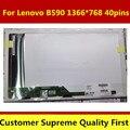 "15.6 ""pantalla lcd portátil pantalla led de matriz para lenovo b590 59366614 prueba antes de enviar 1366*768 40 pines"