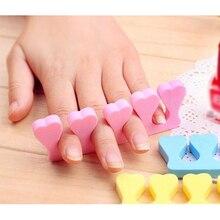 New Arrival 2pcs Soft Sponge Foam Finger Toe Separator Nail Art Salon Pedicure Manicure Tool