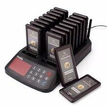 TIVDIO T-115 ресторан пейджер Беспроводной Вызов подкачки Системы бипер клиента Услуги 18 Coaster пейджерам + 1 клавиатуры передатчика