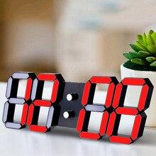 LED Digital Electronic Alarm Clock with Night mode Adjust the Brightness Modern Wall glowing hanging clock