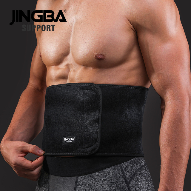 JINGBA SUPPORT Sports protective gear waist trimmer Support Slim fit Abdominal Waist sweat belt Sports Safety Back Support