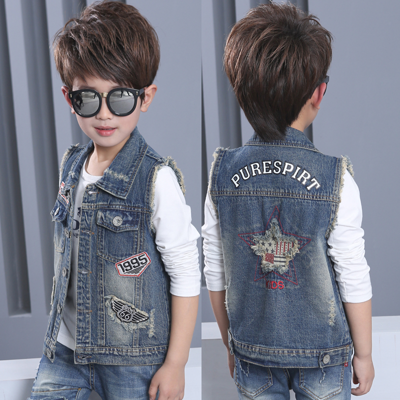 Children Denim Vests Waistcoat Girls Boy Outerwear 2017 Leisure Baby Soft Cowboy Kids Jacket Winter Fashion Casaco Colete Menina