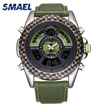 SMAEL Digital Wristwatches for Men LED Watches Leather Strap Free Shipping Watch 1369 Men Waterproof Sport Watches Quartz Watch led quartz wristwatches luxury smael cool men watch big watches digital clock military army1436 waterproof sport watches for men