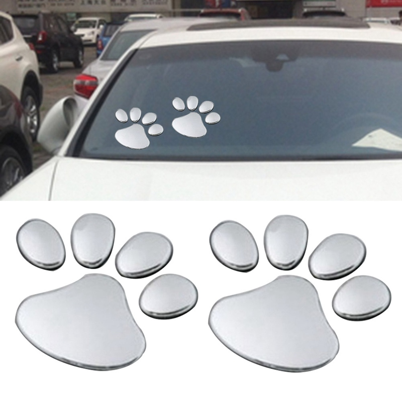 1 Paar Auto Aufkleber Pet Paw Footprints Emblem Auto Lkw Decor 3d Aufkleber Auto Aufkleber Aufkleber AusgewäHltes Material