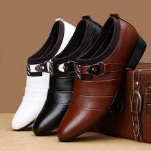 В Наличии! Высокое Качество PU Кожаные Ботинки Мужчины, Slip-on Свадебная Обувь, Мужчины Платье Обувь, британский Стиль Моды для Мужчин Оксфорды Обувь Для Мужчин