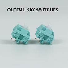Outemu Sky MX Switches teal housing 5pin OTM 62g 68g Tactile for custom mechnical keyboard(China)