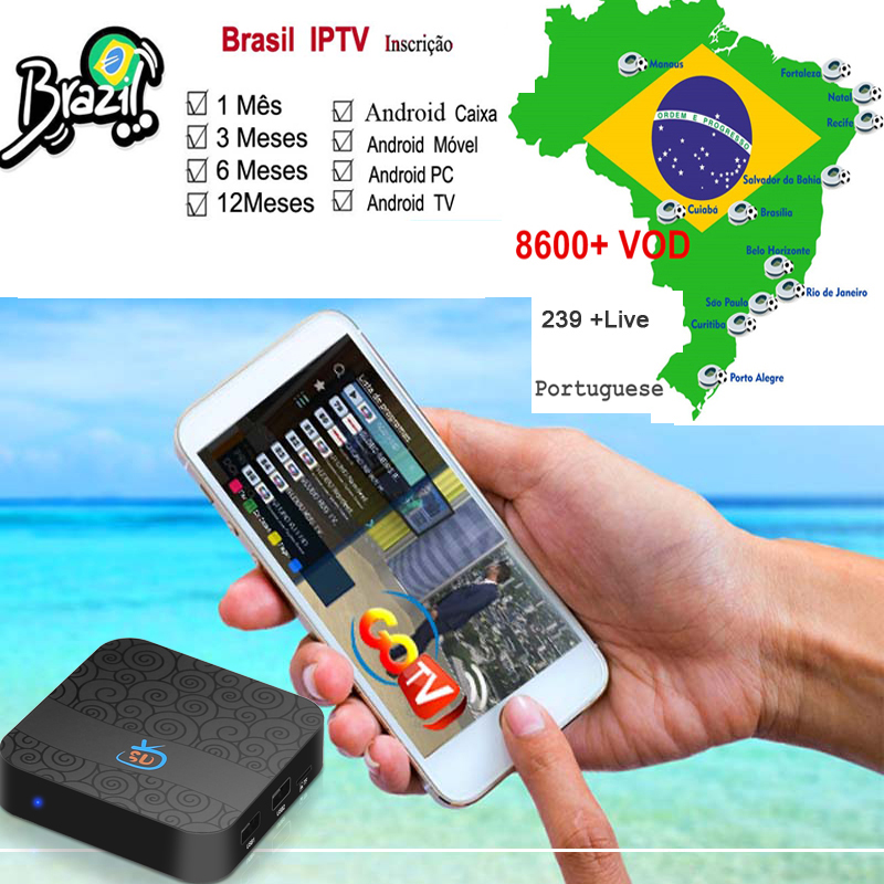 1 Month Brazil IPTV Support Any Android Box /mobile / Tv And Android Pc With VOD +LIVE +PLAYBACK