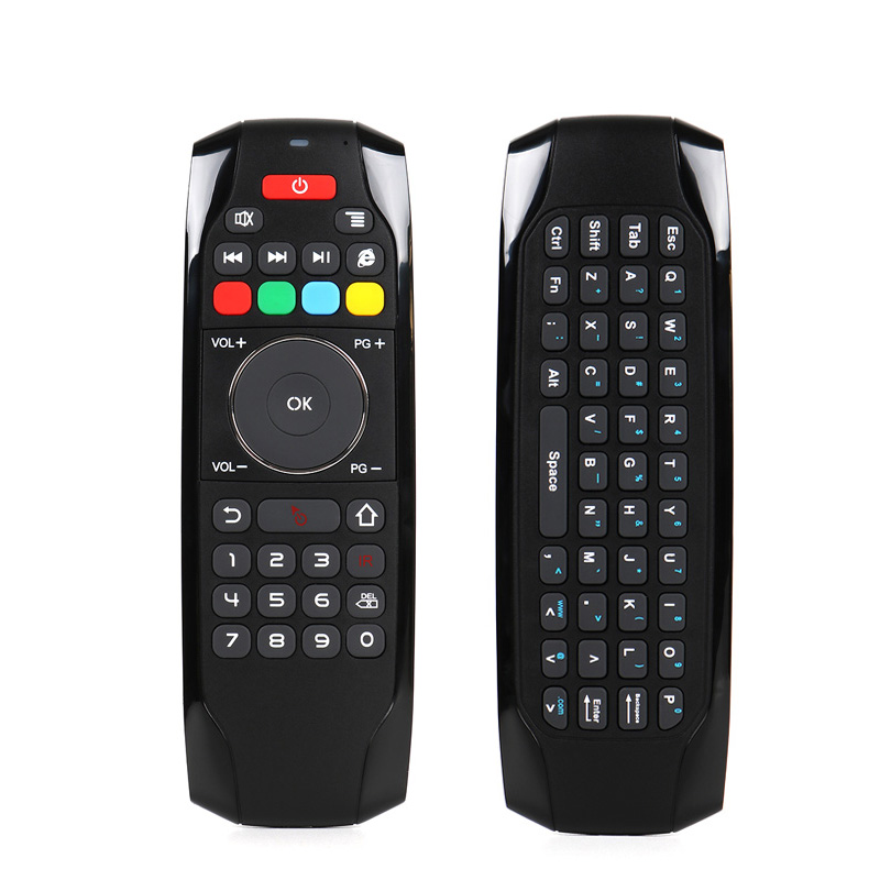 TV Air Mouse Universal Remote Control Mini Wireless Keyboard 3-Gsensor Airmouse Controller for Android TV Box PC Computer 2018 original t2 air mouse 2 4g wireless mini keyboard 3d sense motion remote controller t2 air mouse for android smart tv box pc