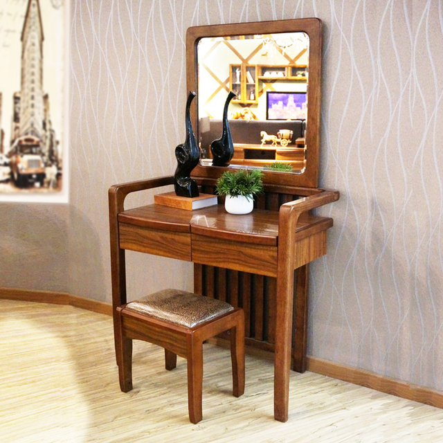 Good Comrade Small Apartment Bedroom Dresser Dressing Table Solid