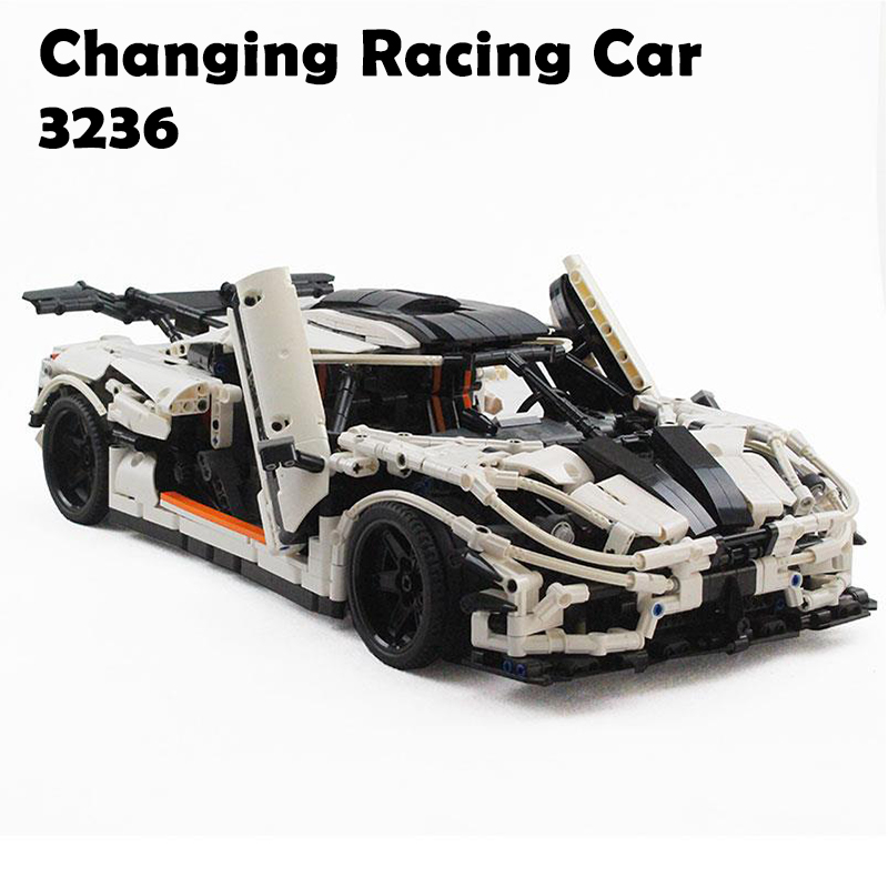Model Building Blocks 3236Pcs Compatible with Lego Technic Series MOC-4789 Changing Racing Car Children Bricks Educational Toys 100pcs 2512 1r6 1 6 ohm 5% smd thick film chip resistor