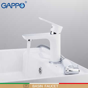 GAPPO Basin Faucets white and chrome waterfall tap basin mixer with spray bathroom sink faucet brass water tap bath faucets - DISCOUNT ITEM  52% OFF All Category