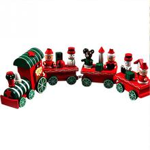 2017 Newest Mini Christmas Wood Train Christmas Innovative Gift Kid font b toys b font for