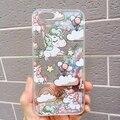 Новый мультфильм Жидкий Блеск Quicksand Радуга Единорог Лошадь Крышка Shell для iPhone 6 6 S 6 plus 6 Splus 7 7 Плюс 5 симпатичные Телефон Случаях