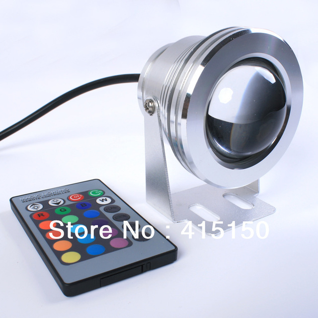 12V LED 16 color adjustable color RGB underwater light with remote controller waterproof level IP68 quality assurance