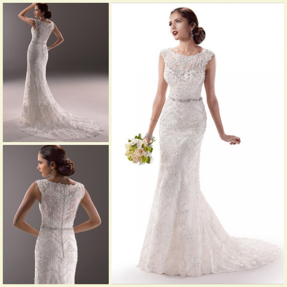 To Sew Simple Patterns Of The Shoulder Wedding Dress