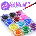 Hot Selling 1 Piece UV Nail Gel Polish Easy Soak Off Long Lasting Glaze Gel LED Nail Polish Any 1 Color Transparent Gel Nail