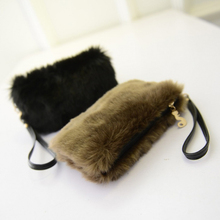 12651684c127 New Fashion Style Women Handbags Fur Clutch Bags Evening Tote Casual Little  Female Bolsas High Quality