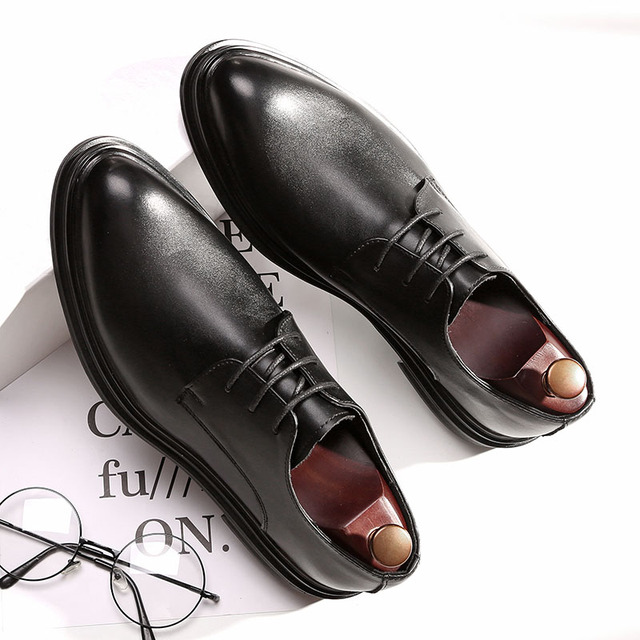 DESAI Shoes Men Korean Fashion Pointy Casual Mens Shoes Spring Summer Autumn Winter Leather Shoes Business Flats