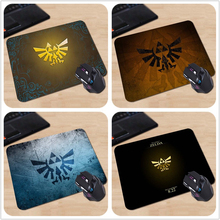 New Arrival The Legend of Zelda Triforce Icon Customized Mouse Pad Computer Notebook Black Rectangle Non-Slip Rubber  Mousepad