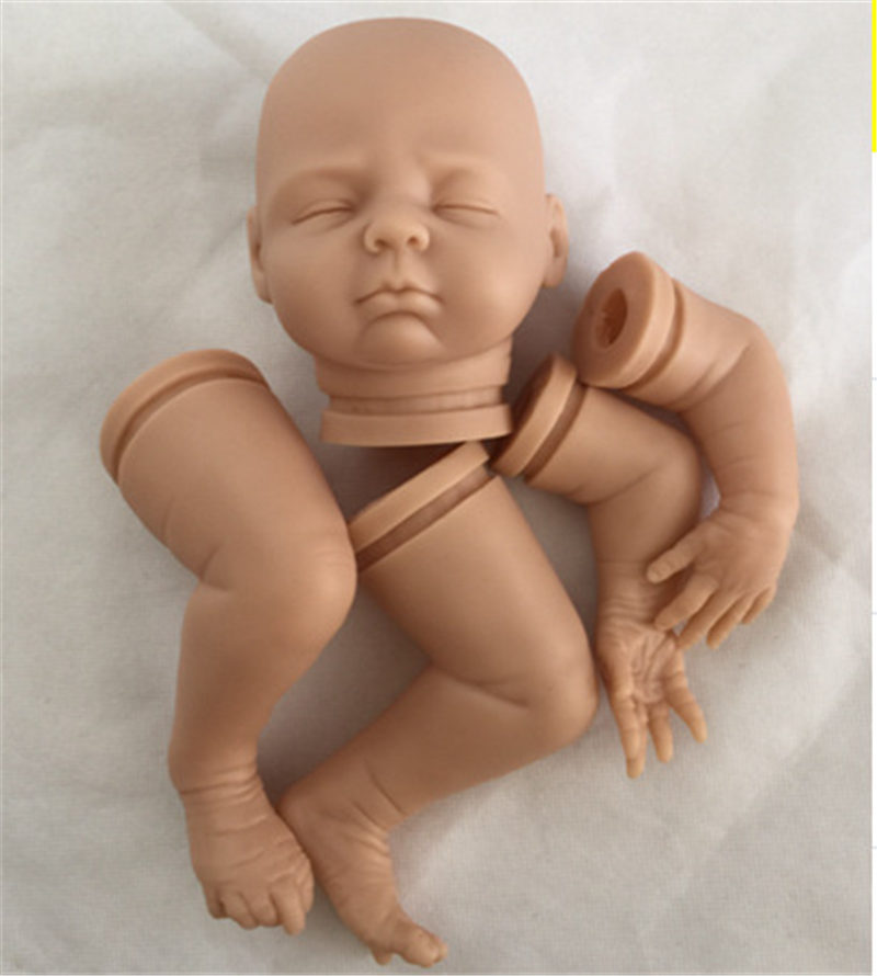 Popular 18 Inch Reborn Doll Kits Full Vinyl Head and 3 4 Limbs Lifelike Baby Dolls