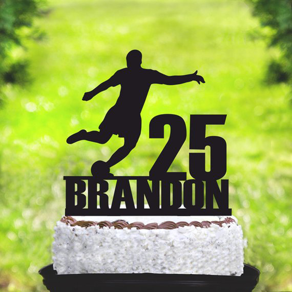 Personalized Name and Age Football Happy Birthday Party Cake Topper, Sport Theme Cake Topper  Decorations  Supplies Personalized Name and Age Football Happy Birthday Party Cake Topper, Sport Theme Cake Topper  Decorations  Supplies