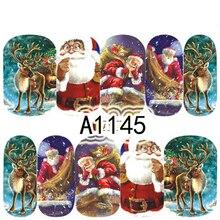 12 Xmas Christmas Nail Art Water Sticker