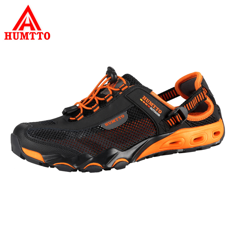 HUMTTO Men's Aqua Shoes Outdoor Hiking Mesh Breathable Shoes Quick-drying Wading Shoes Non-slip Walking Sport Camping Sneakers