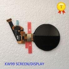 Nouvelle qualité originale montre AMOLED ronde hd écran daffichage pour kw99 w1 kw88 montre intelligente téléphone montre kw88 pro smartwatch heure